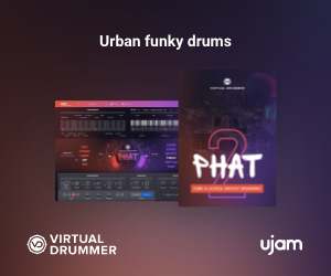 Urban funky drums Virtual Drummer Phat by UJAM